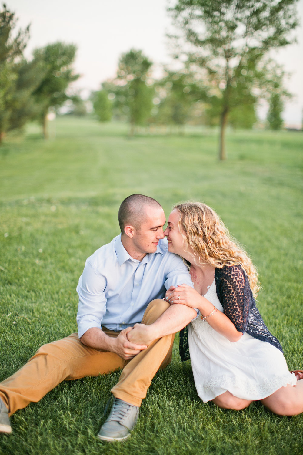 romantic themed engagement photos in Des Moines