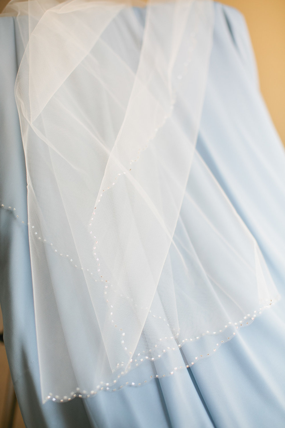 wedding veil on bridesmaid dress