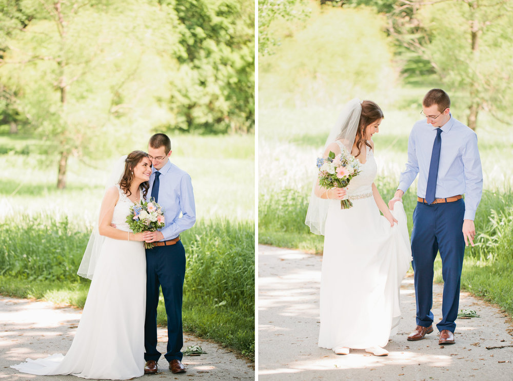 romantic west des moines wedding