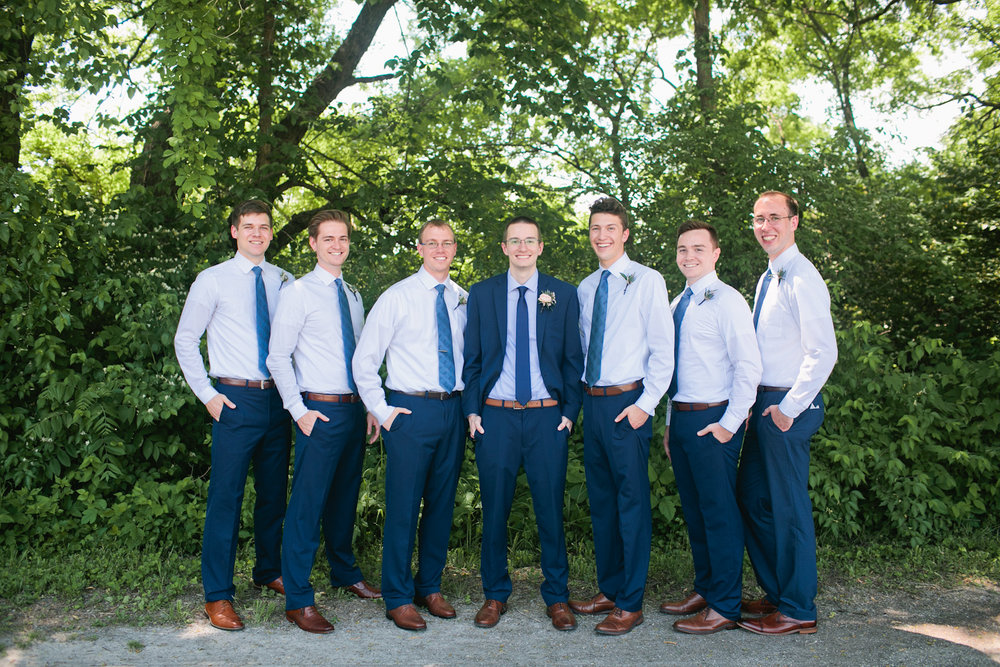 classic groomsman photos