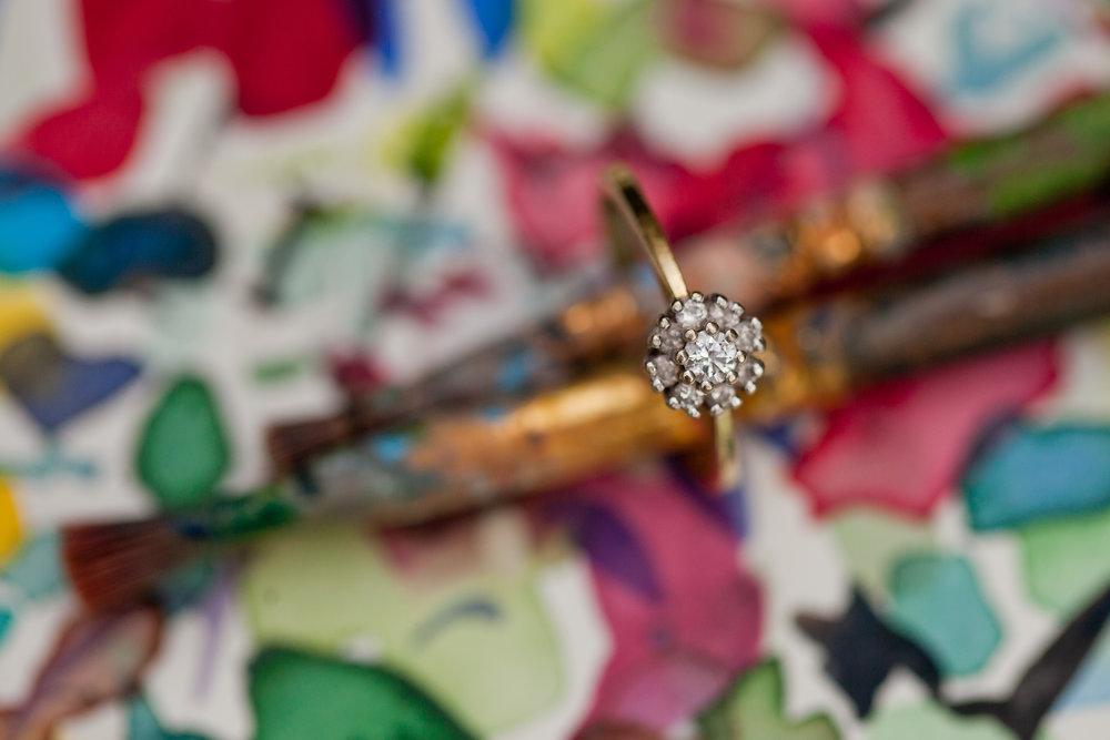 flower cluster inspired diamond engagement ring