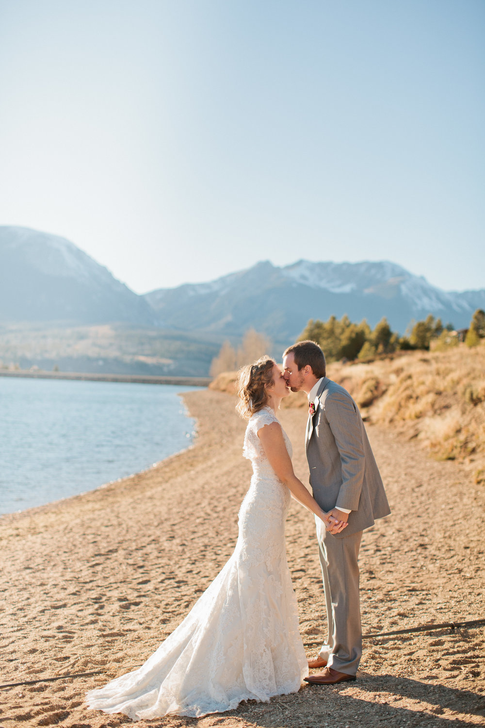 incredible mountain wedding in Colorado by lake