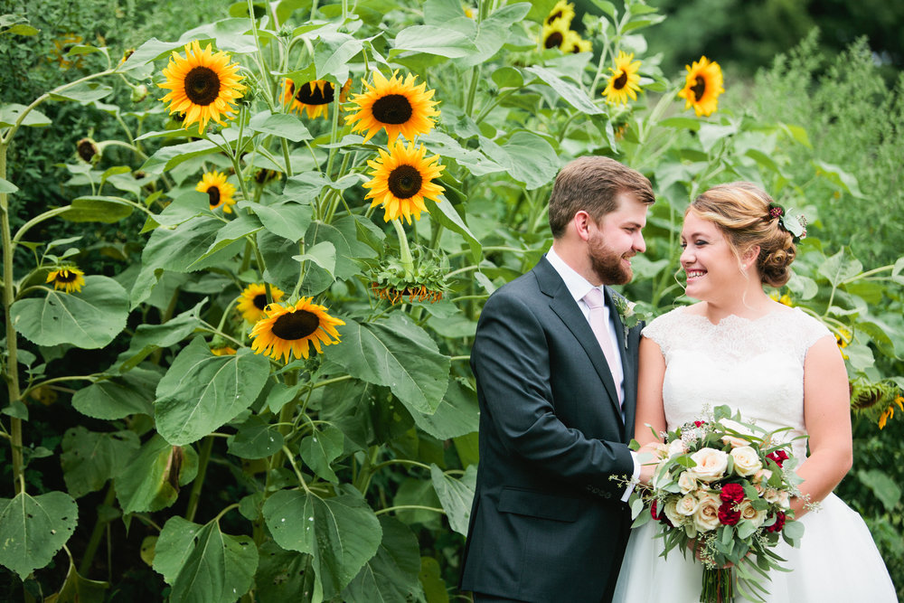 After planning an outdoor wedding ceremony and picking an incredible photographer, I'll be looking for an amazing bouquet. Like Maddy! (And sunflowers don't hurt, either!)
