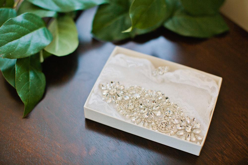 jeweled custom wedding garter