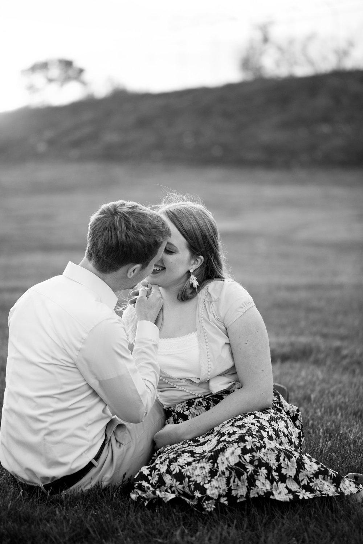 kissing black and white photos amelia renee photography Des Moines Iowa