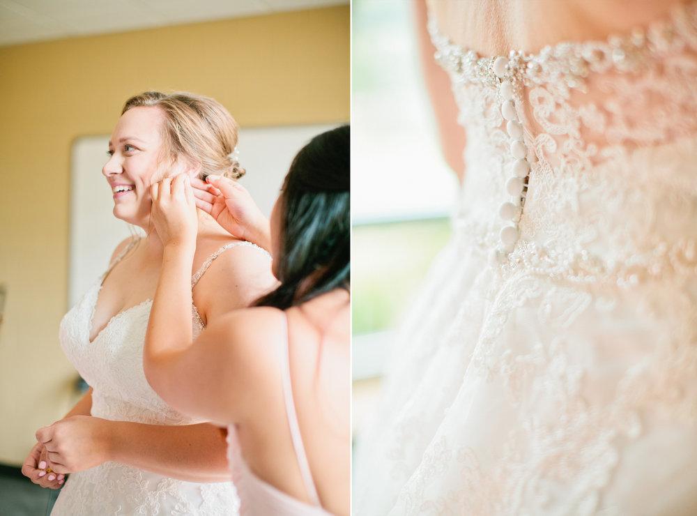 wedding dress shops in Des Moines lace scoop back wedding dress