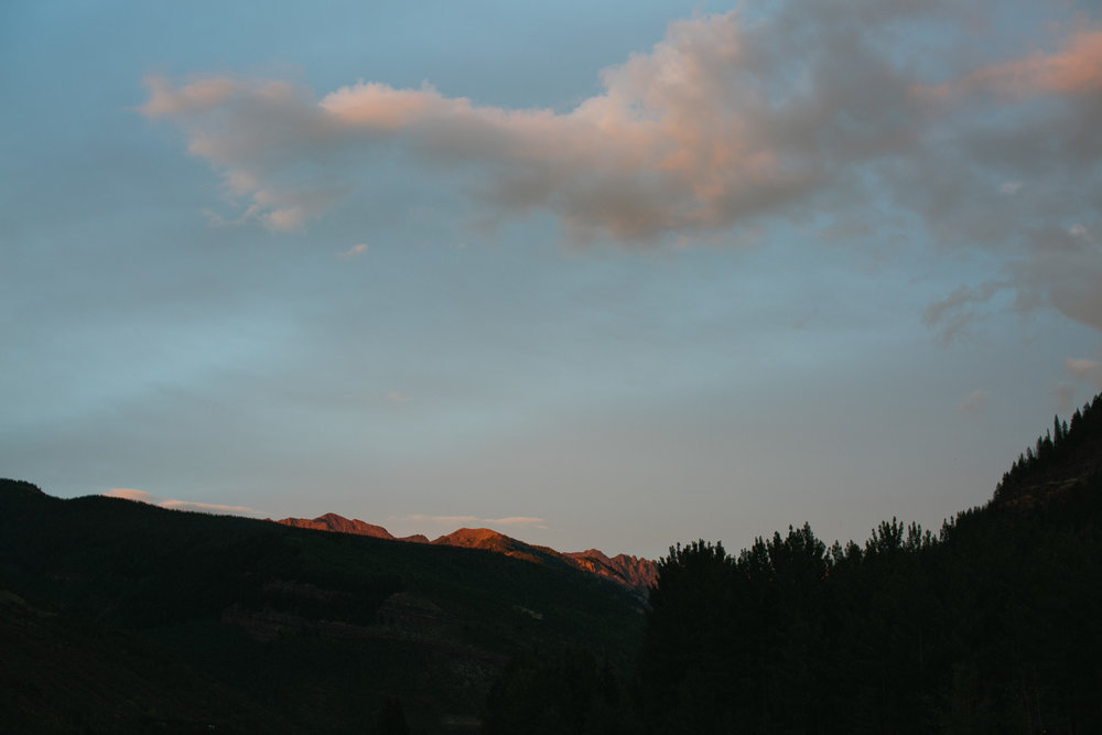 sunset over the mountains in vAil