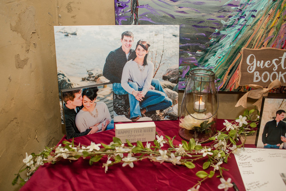 canvas print of engagement photos