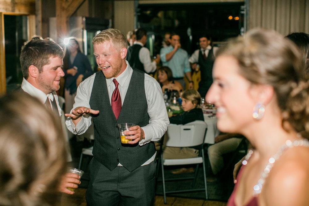 guests dancing at wedding reception winery prairie moon