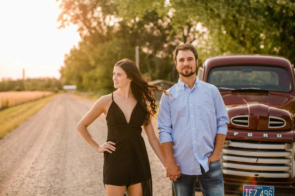 vintage ford truck engagement photos