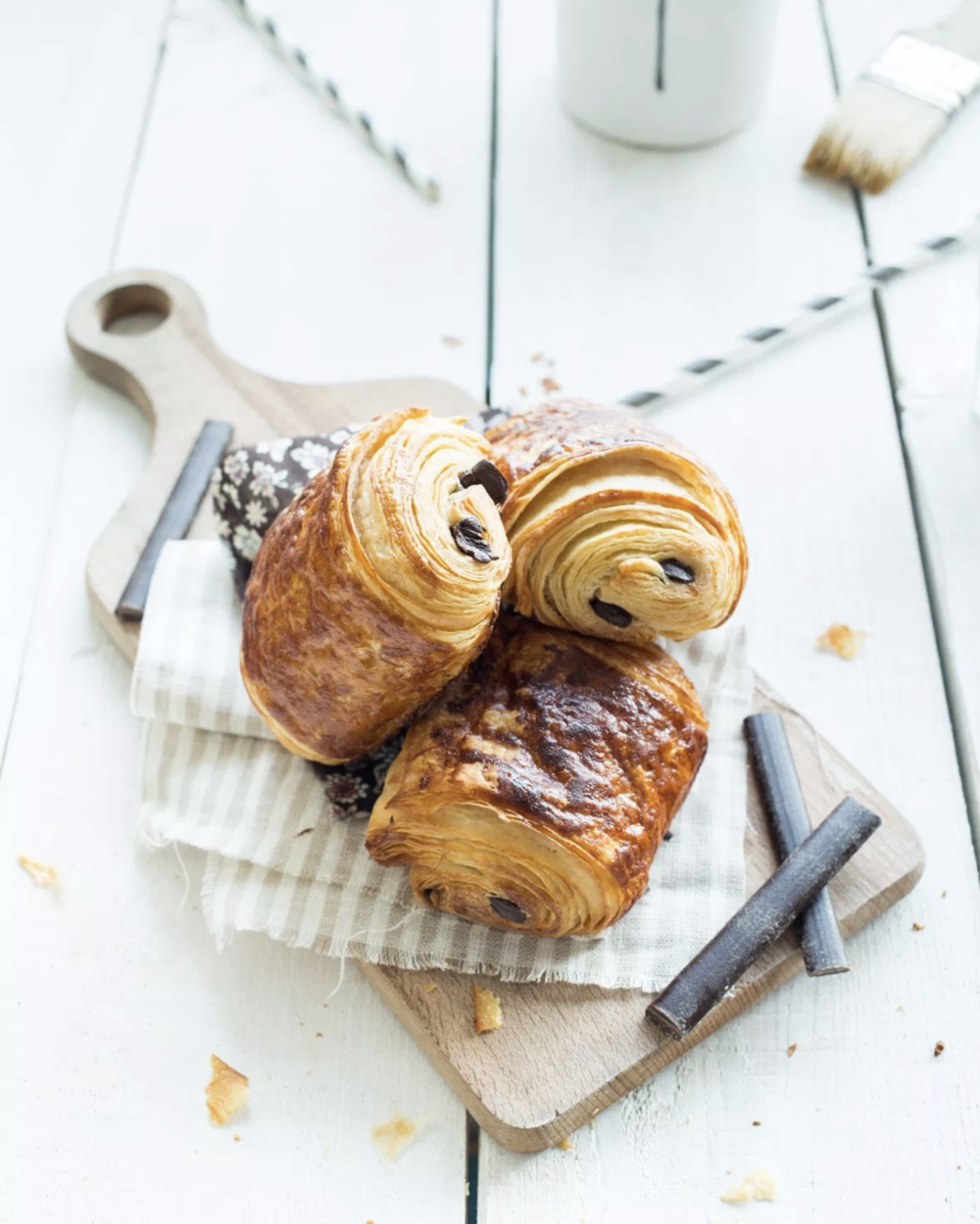 french breakfast foods pain au chocolat chocolate stuffed croissant