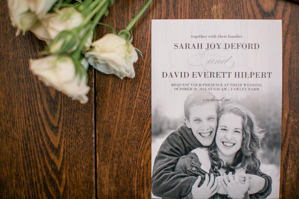 backyard wedding in October