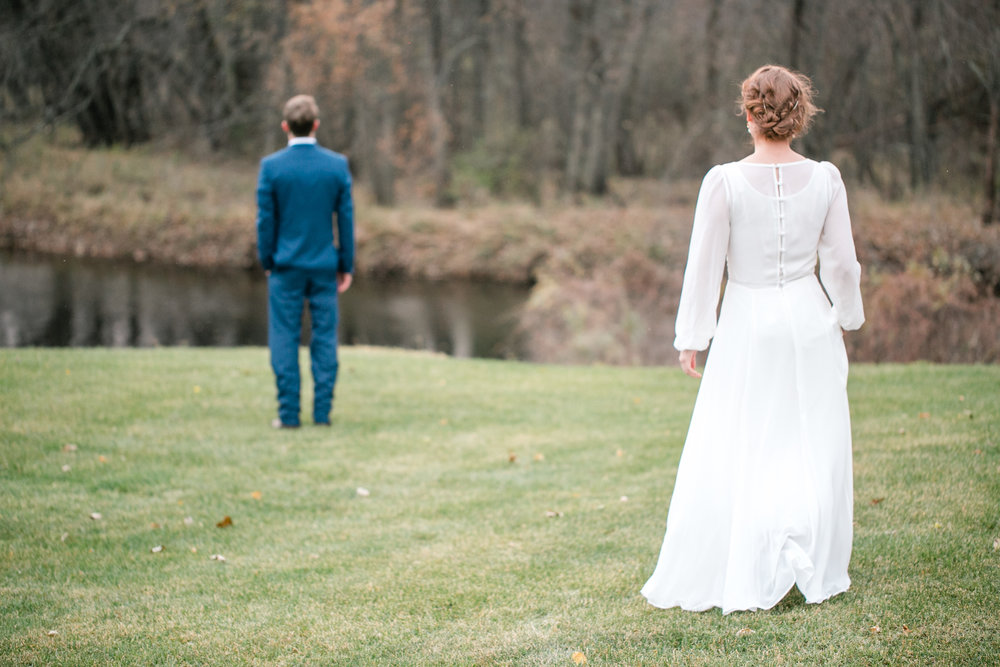 magical anne of green gables wedding first look photos