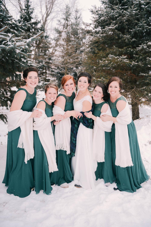 winter wedding in Cedar Falls Iowa