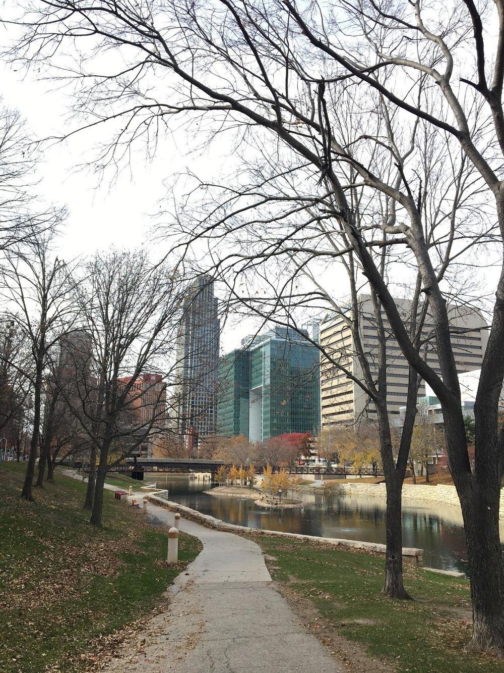 river walk downtown Omaha