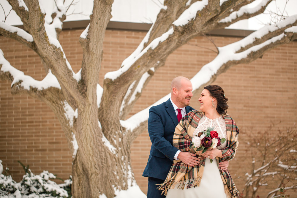 winter wedding ideas cedar falls iowa november in snow