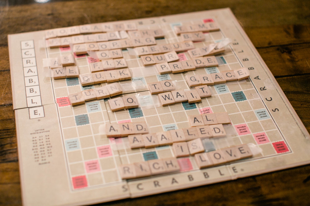 cute poem made of scrabble letters for engagement proposal