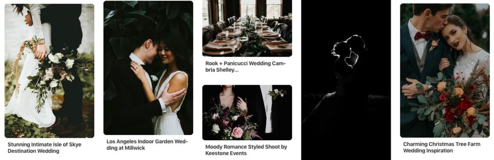 moody wedding dark edits