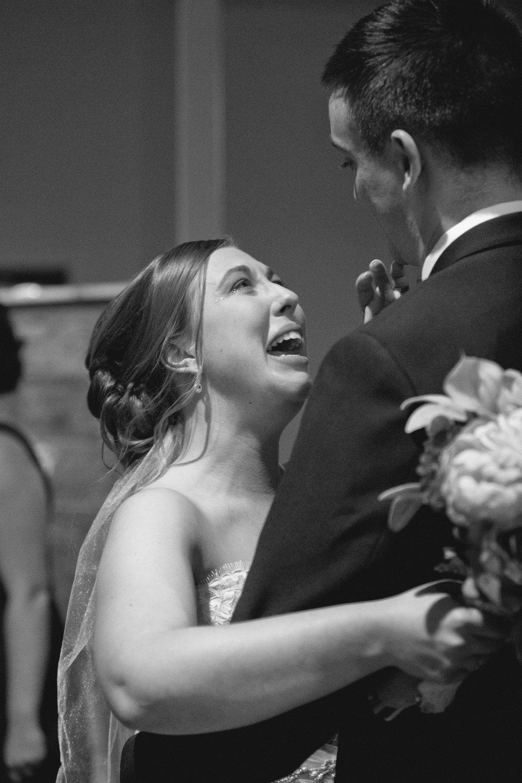 des moines wedding photography emotional bride