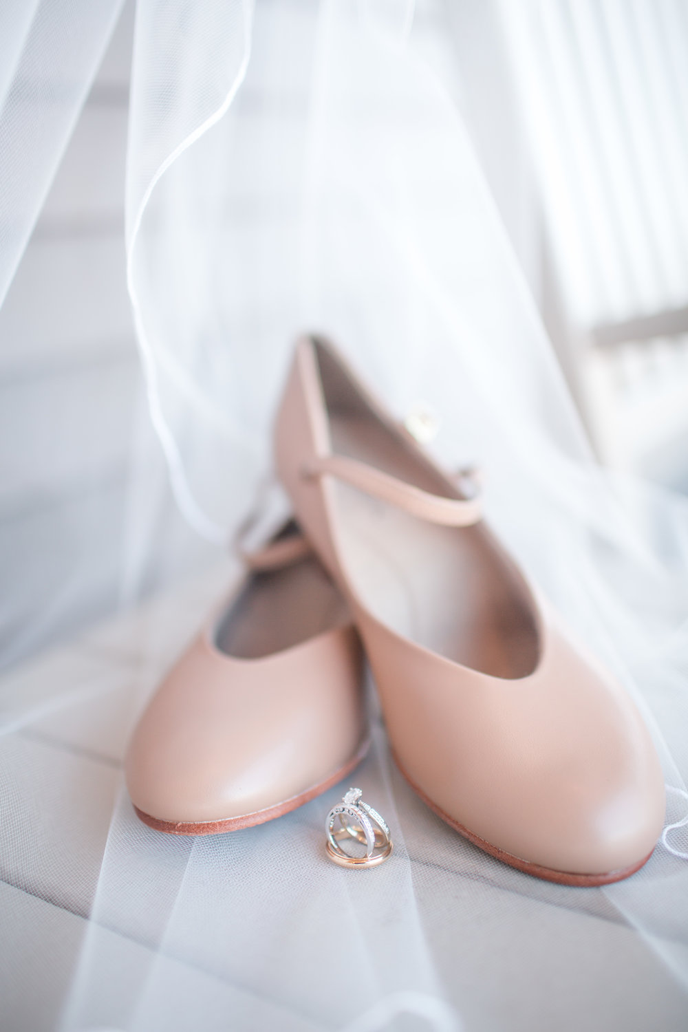 dance shoes and wedding rings bride details iowa des moines