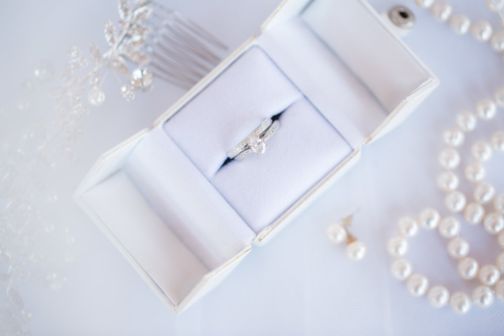 wedding details pearls wedding rings ames silversmithing