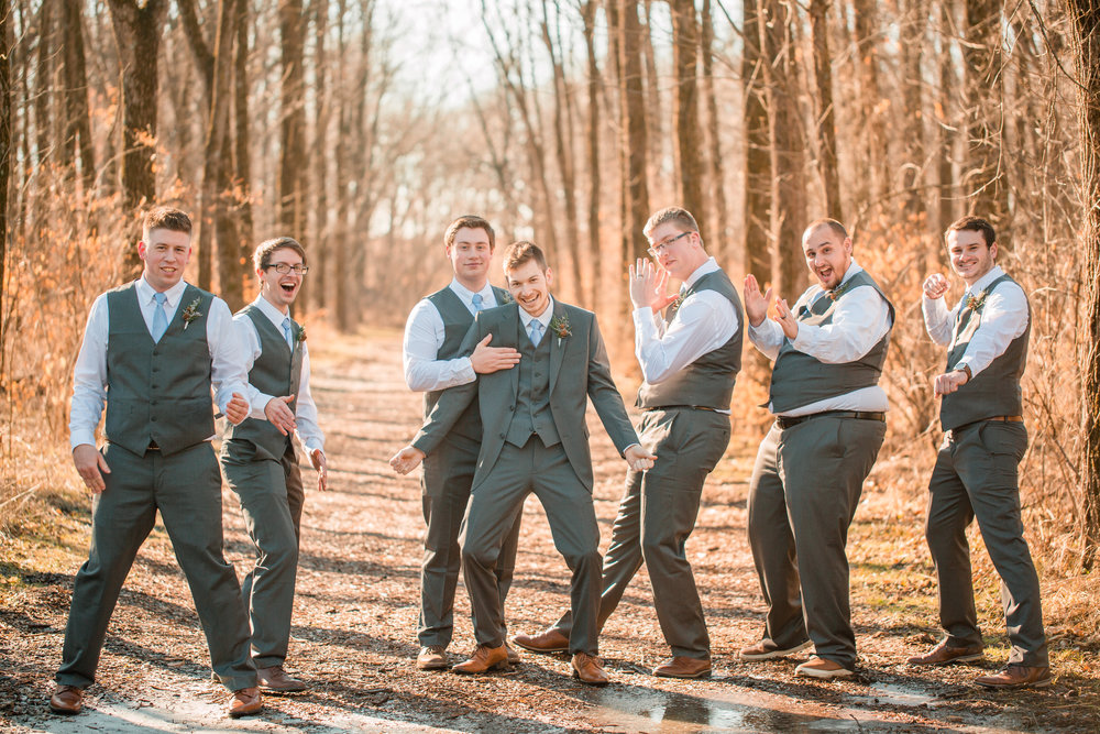 goody silly groomsmen wedding photos
