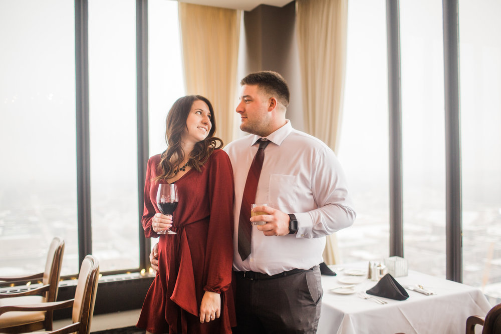 embassy club downtown restaurant engagement pictures