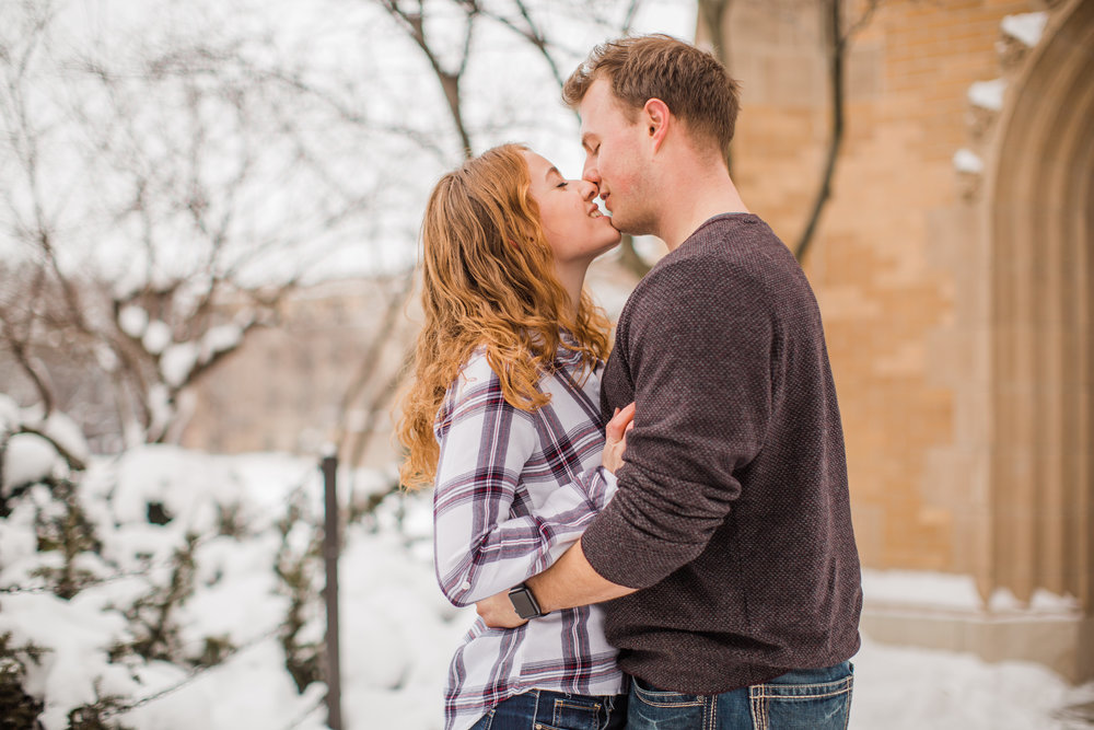 almost kissing engagement photos