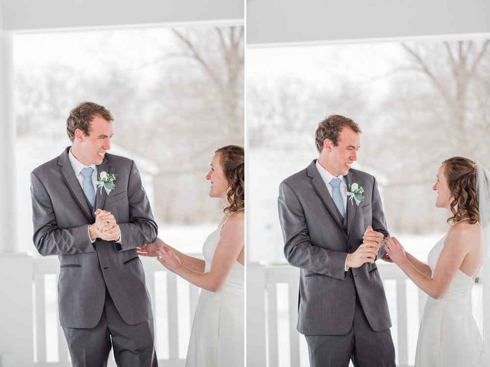 des moines winter wedding photographers