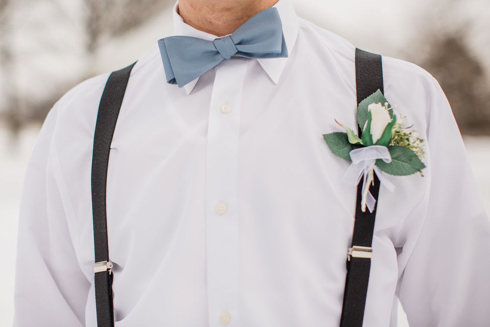 dusty blue bow ties groomsmen