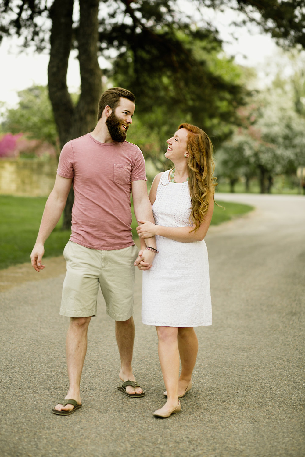 spring engagement photos in des moines iowa
