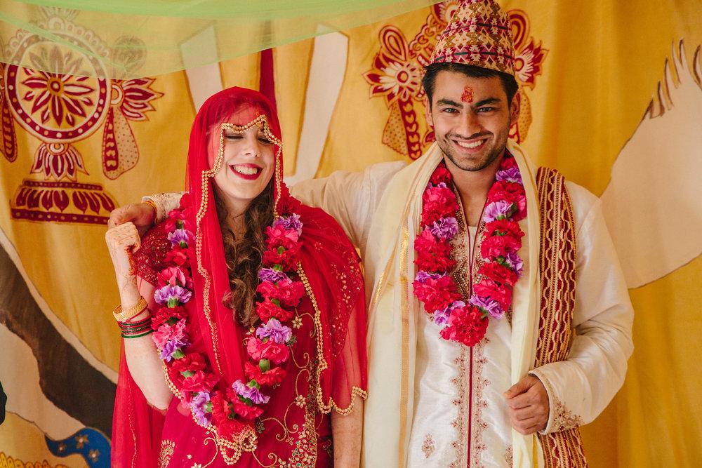 Hindi wedding bride and groom