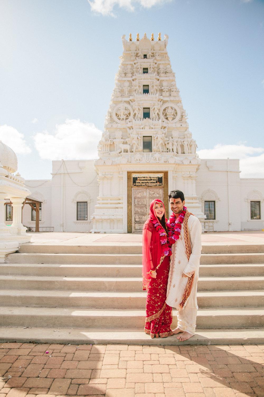 Madrid Hindu Temple wedding ceremony paras and elizabeth // des moines Iowa wedding photographers