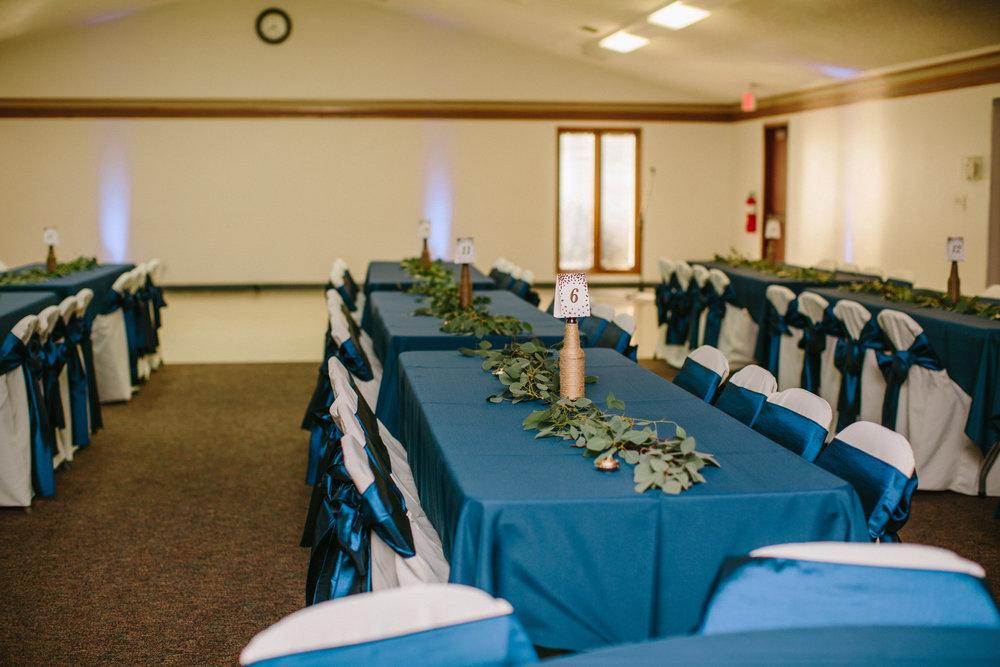 Lions Club Johnston wedding reception decorations
