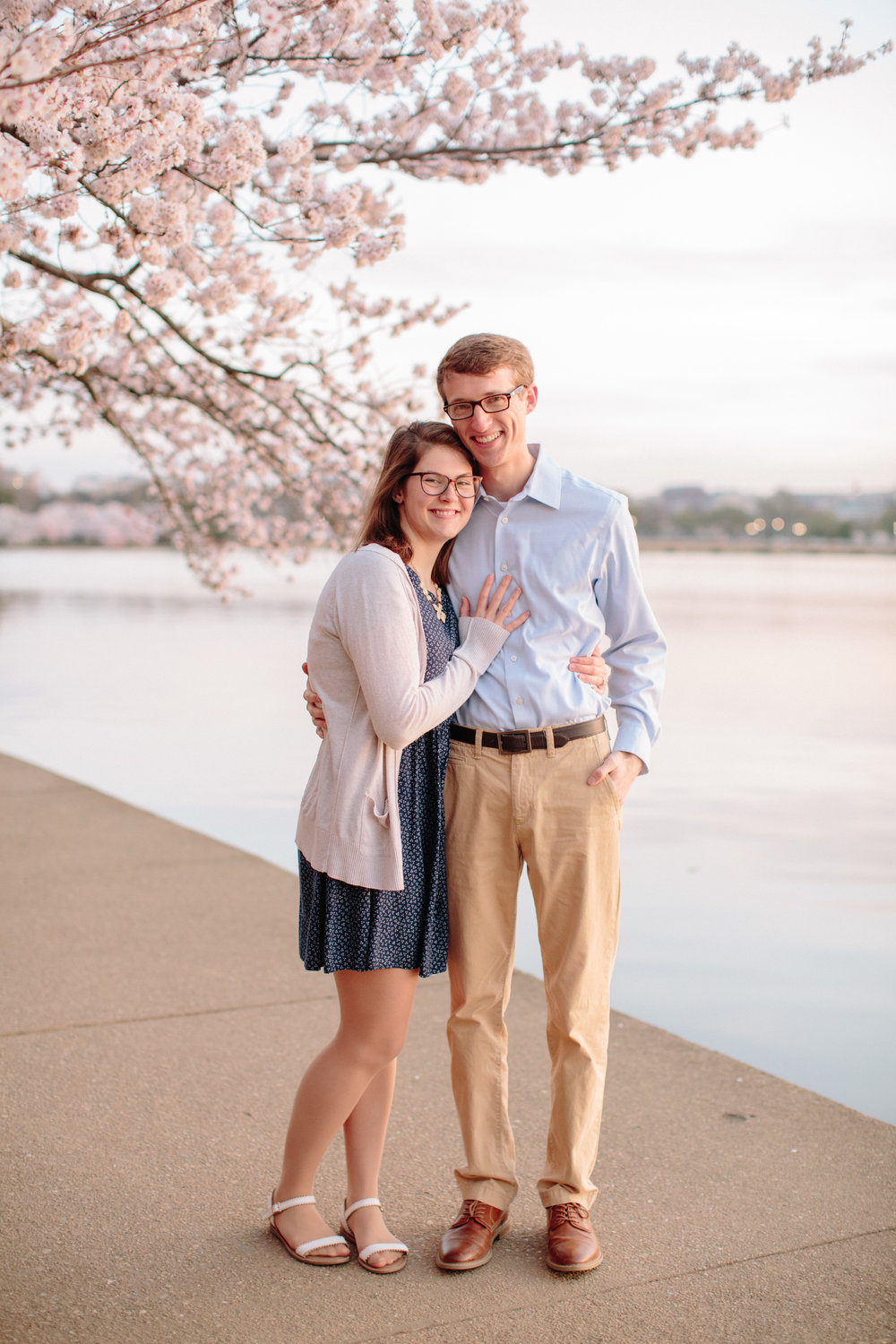Spring Engagement Session on the Tidal Basin - | Cherry Blossom Engagement Sessions