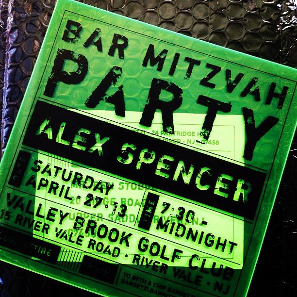 Custom Bar Mitzvah Invitation