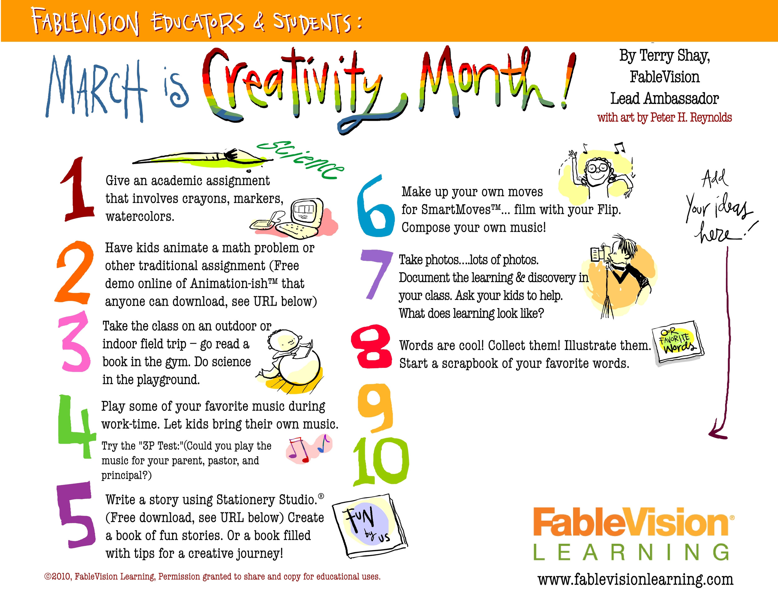 Poster - Creativity Month