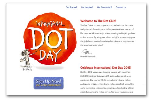 International Dot Day Website