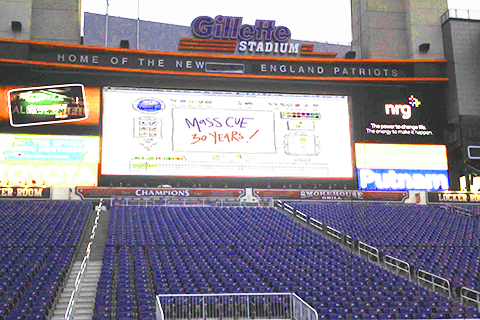 MassCUE - 30 Years! On Jumbotron