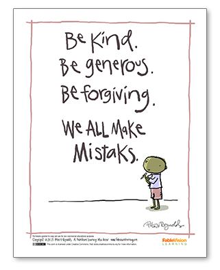 Peter H. Reynolds' We All Make Mistaks Poster