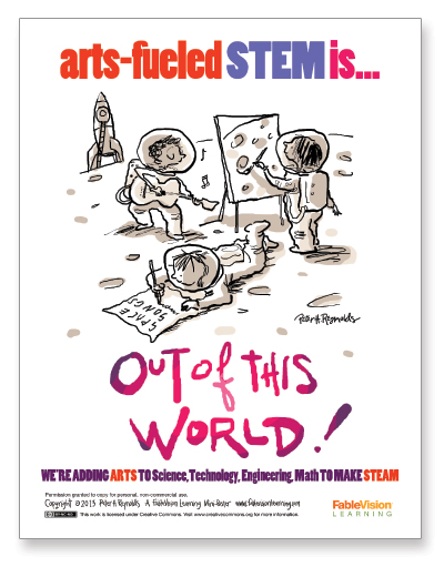 Peter H. Reynolds Poster: Out of This World