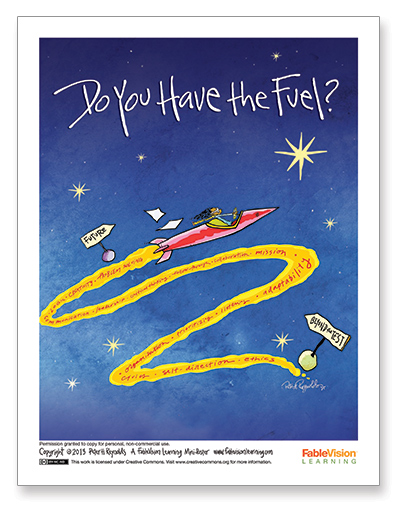 Peter H. Reynolds Poster: Do You Have the Fuel?