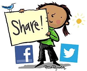 share_girl_facebook_twitter