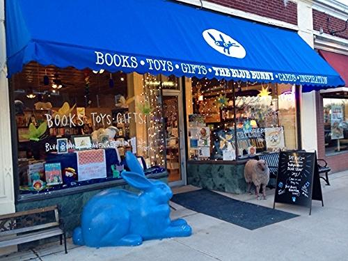 The Blue Bunny bookstore located in Dedham, MA