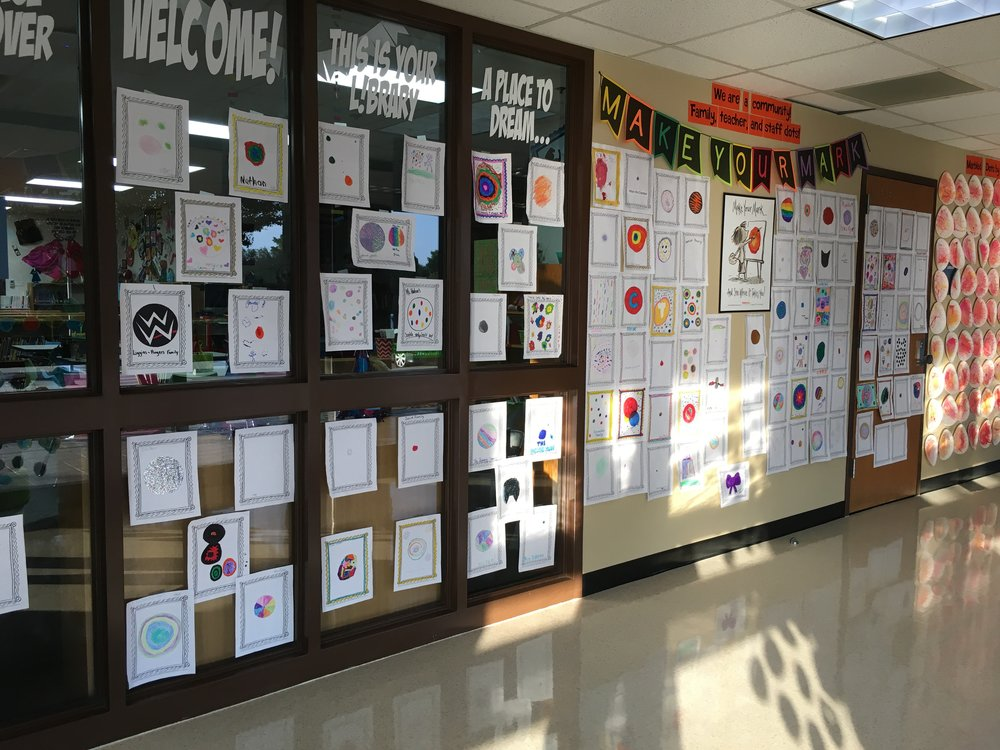 Family and Faculty Dots Hallway Display.JPG