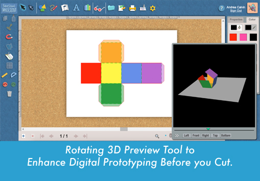 Copy of Rotating 3D preview tool to enhance digital prototyping before you cut