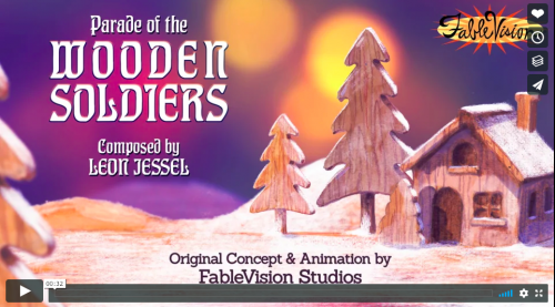 Click through to see FableVision Studios animation clip for the 2018 Boston Pops!  Image from FableVision Studios.
