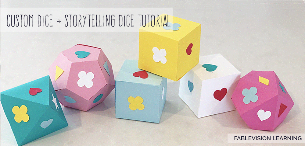 Geometric + Storytelling Dice with Fab@School Maker Studio