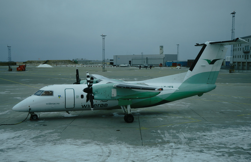 This small, but gutsy plane somehow landed the team safely in the Arctic Circle, despite heavy winds that threw the plane around like a rag doll.
