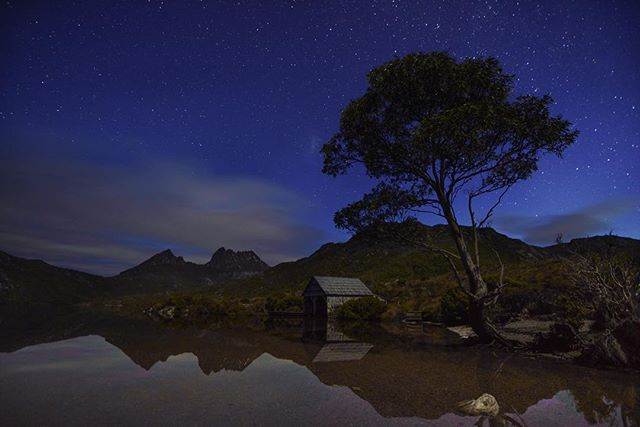 Midnight at Cradle Mountain, Tasmania. @resourcetravel @tasmania @australia #ResourceTravel #DiscoverTasmania #Tasmania #SeeAustralia #Australia